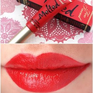 NWT|Too Faced Melted Long Wear Lipstick Bright Red